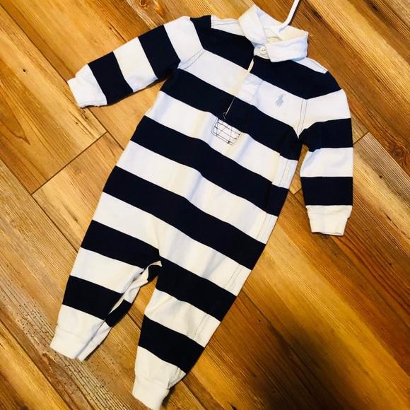 Ralph Lauren Other - Ralph Lauren baby boy striped coverall